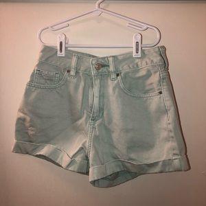 Mint Pacsun Mom Shorts